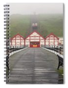 Misty View Of Victorian Pier  Redcar Spiral Notebook