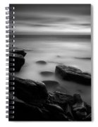 Misty Water Black And White Spiral Notebook