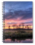 Mitchell Park Sunset Panorama Spiral Notebook