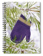 Mitten In Snowy Pine Tree Spiral Notebook