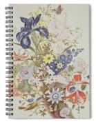 Mixed Flowers In A Cornucopia Spiral Notebook