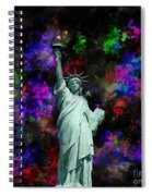 Mixed Media Statue Of Liberty Spiral Notebook