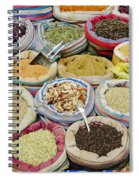 Mixed Spices In Market Of Cairo Egypt Spiral Notebook