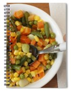 Mixed Vegetables Meal Spiral Notebook