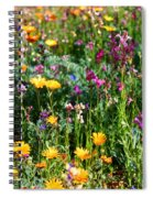 Mixed Wildflowers Spiral Notebook