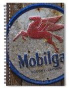 Mobil Gas Sign Spiral Notebook