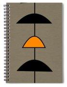 Mobile 2 In Orange Spiral Notebook