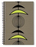 Mobile 3 In Green Spiral Notebook