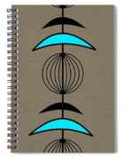 Mobile 3 In Turquoise Spiral Notebook