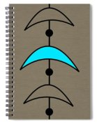 Mobile 4 In Turquoise Spiral Notebook