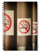 Mobile Photography Toned Row Of No Smoking Signs Spiral Notebook