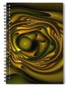 Mobius Field Generator Fractal Olive Spiral Notebook