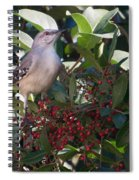 Mocking Bird And Berries Spiral Notebook