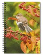 Mockingbird And Berries Spiral Notebook