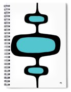 Mod Pod One Black On White Spiral Notebook