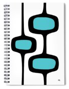 Mod Pod Two Black On White Spiral Notebook