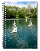 Model Boats On Conservatory Water Central Park Spiral Notebook
