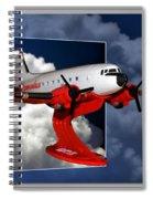 Model Planes Dc3 01 Spiral Notebook