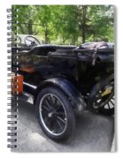 Model T With Luggage Rack Spiral Notebook