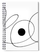 Modern Art - To The Point - By Sharon Cummings Spiral Notebook