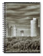 Modern Buenos Aires Black And White Spiral Notebook