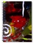 Modern Cave Art Spiral Notebook