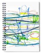 Modern Drawing Eighty-seven Spiral Notebook