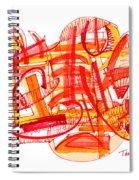 Modern Drawing Eighty-six Spiral Notebook