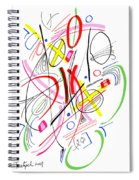 Modern Drawing Fifty-three Spiral Notebook