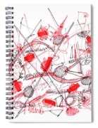 Modern Drawing Ninety-five Spiral Notebook