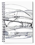 Modern Drawing Seventy-six Spiral Notebook