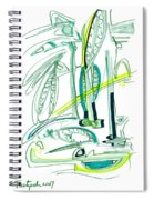 Modern Drawing Sixty-four Spiral Notebook