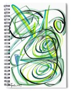 Modern Drawing Sixty Spiral Notebook