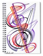 Modern Drawing Sixty-two Spiral Notebook