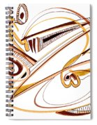 Modern Drawing Twenty Spiral Notebook