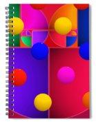 Modern Rain Spiral Notebook