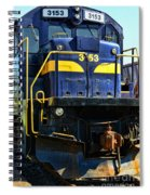 Modern Train Engine Spiral Notebook