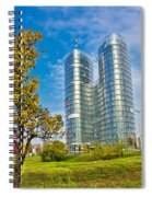 Modern Twin Tower In City Of Zagreb Spiral Notebook