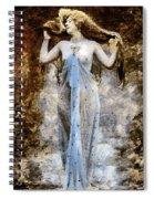 Modern Vintage Lady In Blue Spiral Notebook
