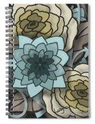 Modern Water Lily Spiral Notebook
