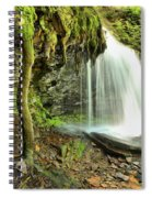 Mohawk Falls At Ricketts Glen Spiral Notebook