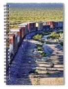Mojave Desert Train By Diana Sainz Spiral Notebook