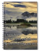 Molas Lake Sunrise With Scripture Spiral Notebook