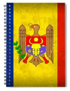 Moldova Flag Vintage Distressed Finish Spiral Notebook