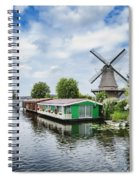 Molen Van Sloten And River Spiral Notebook