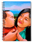 Mom And Babe Spiral Notebook