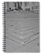 Moma Stairs In Black And White Spiral Notebook