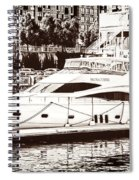 Momousse Yacht In Montreal Spiral Notebook