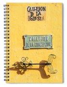Mompox Street Signs Spiral Notebook