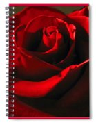 Mom's Red Rose Happy Birthday Wife Spiral Notebook